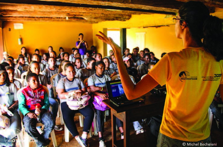 More than 30 schools in the Minas Gerais state of Brazil have taken part in the Instituto Biotrópicos educational program. Photo by Michel Bechelini | Instituto Biotrópicos