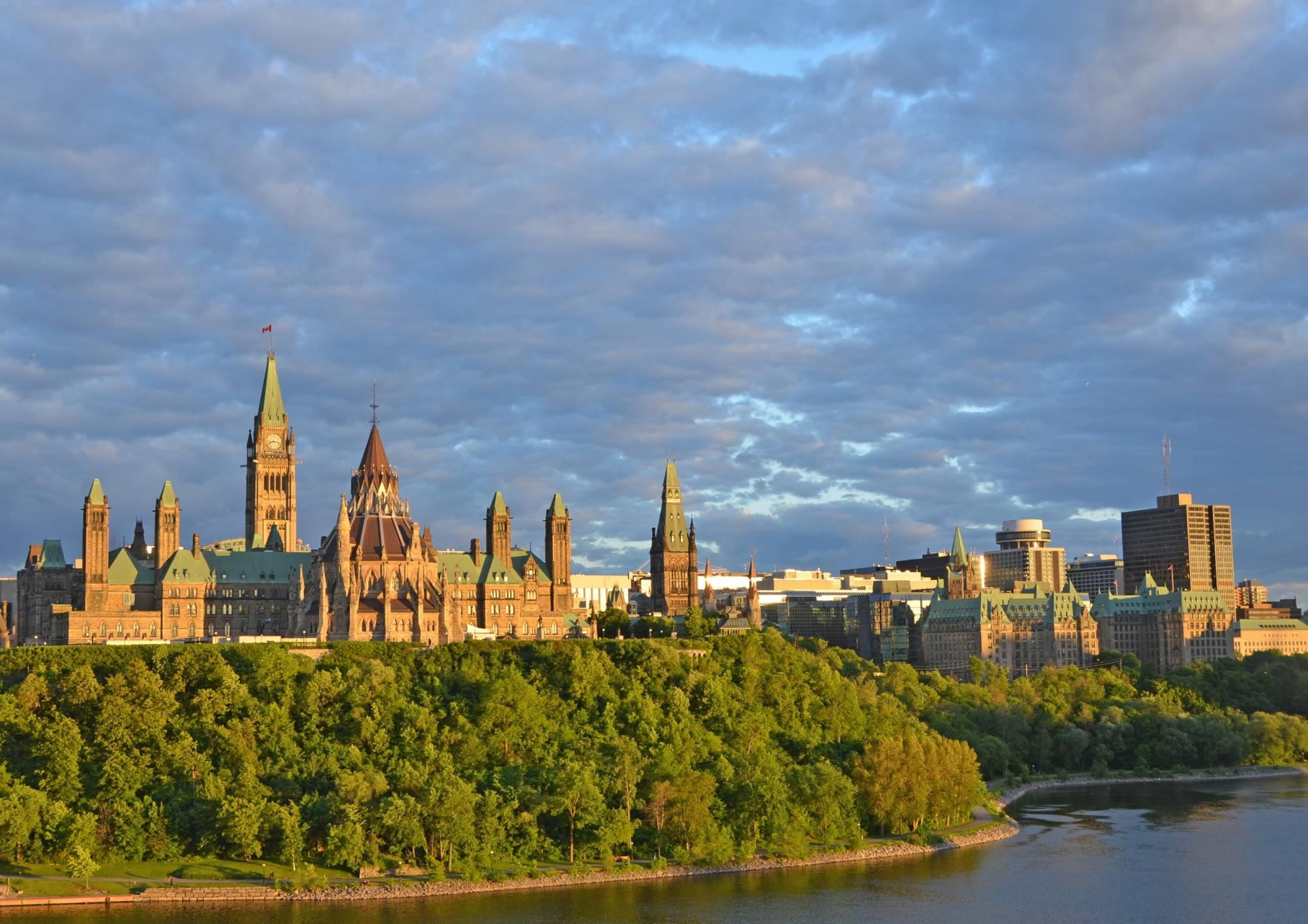 Beautiful view of Parliament Hill in Ottawa