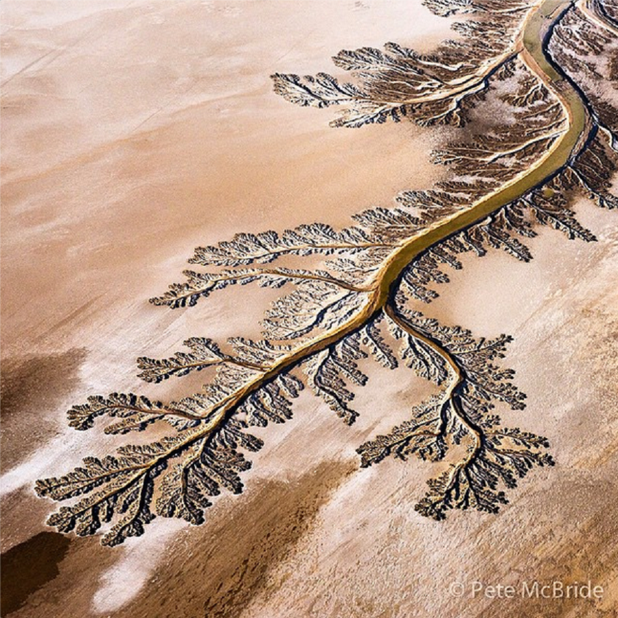 Aerial shot of dry Colorado riverbed | Photo by Pete McBride