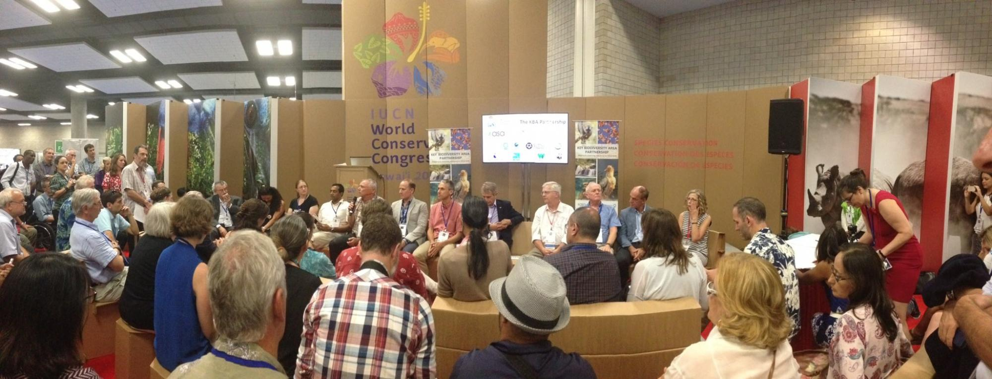 KBA Partnership announcement at the World Conservation Congress