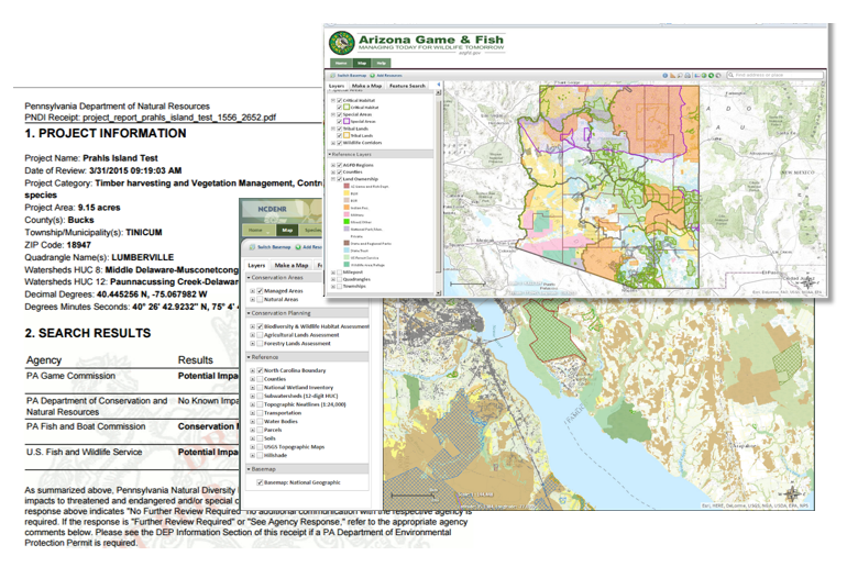 NatureServe's Environmental Review Tool can be customized to meet any agency's needs.