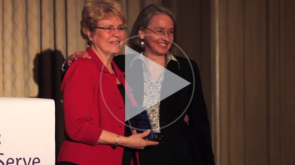 "Dr. Jane Lubchenco handed down lessons from her time in Washington ""from the silly to the sublime."" Click above to watch her speech. Video by Sam Sheline 