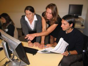 An in-person EBM Tools training session