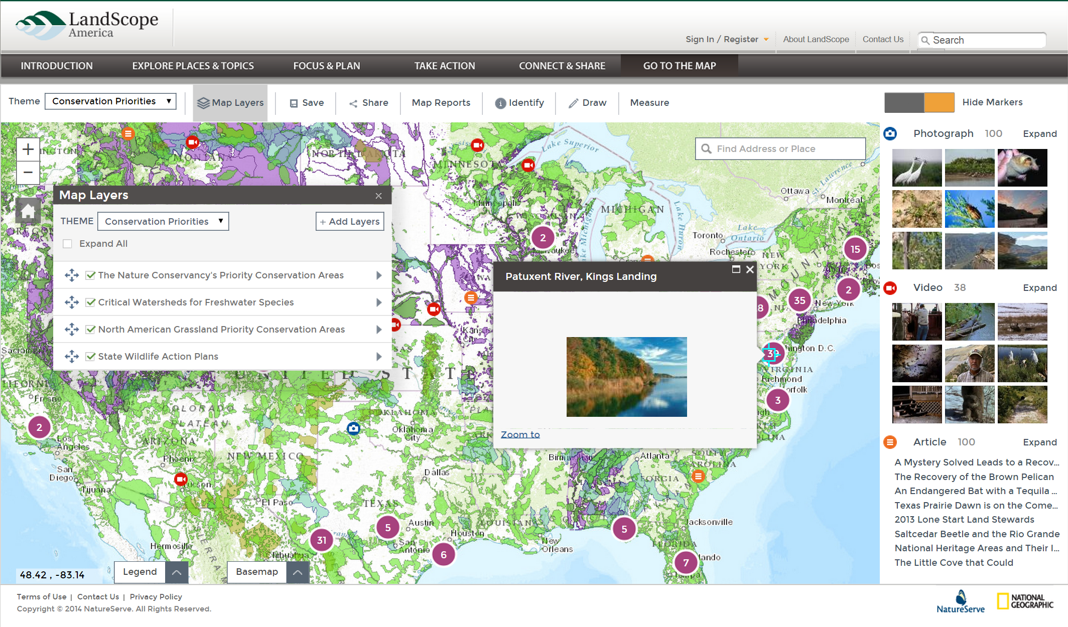 A modernized and more intuitive map viewer highlights the latest upgrades to LandScope America.