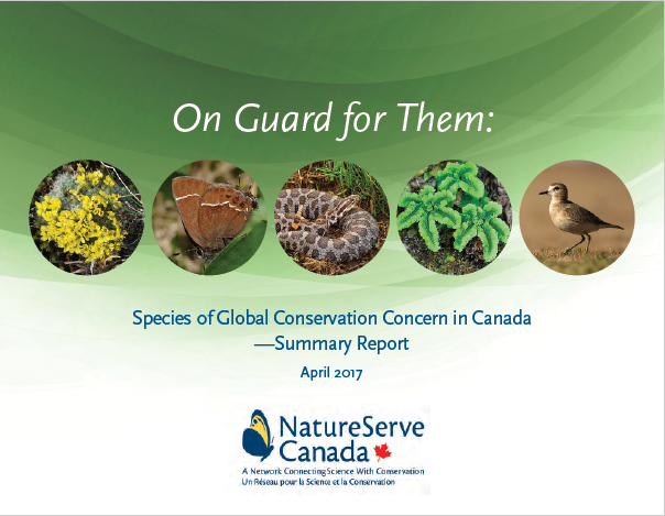 On Guard for Them: Species of Global Conservation Concern in Canada