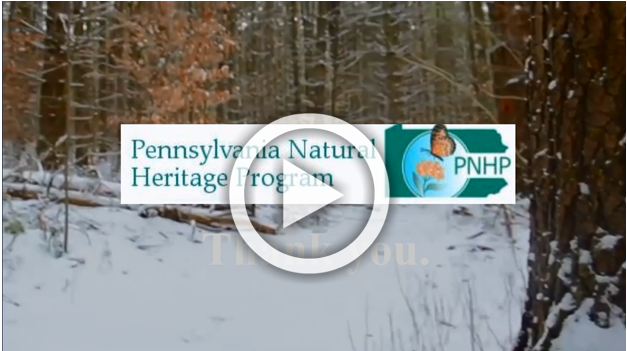 The Pennsylvania Natural Heritage Program, says thank you for your support.