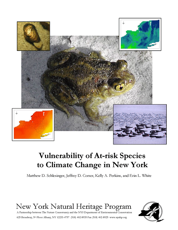 Report image: Vulnerability of At-risk Species to Climate Change in New York