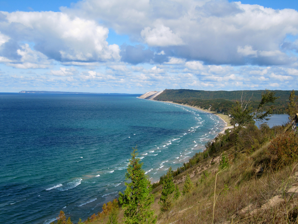 Sleeping Bear Dunes and Lake Michigan near  Traverse City. Photo by Rachel Kramer