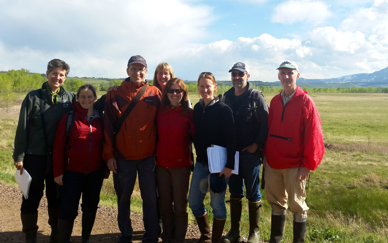 NatureServe staff and network member programs from Colorado, New Hampshire, New Jersey, and Washington met in Colorado in May 2014 to revise the network's shared methodology for assessing the ecological integrity of wetlands.